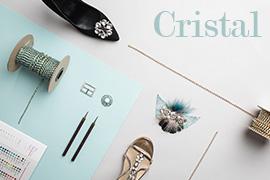 montaje adornos de cristal para calzado y moda
